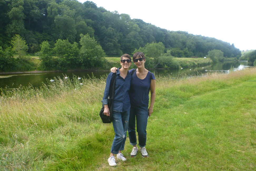 A walk in the countryside with my sister