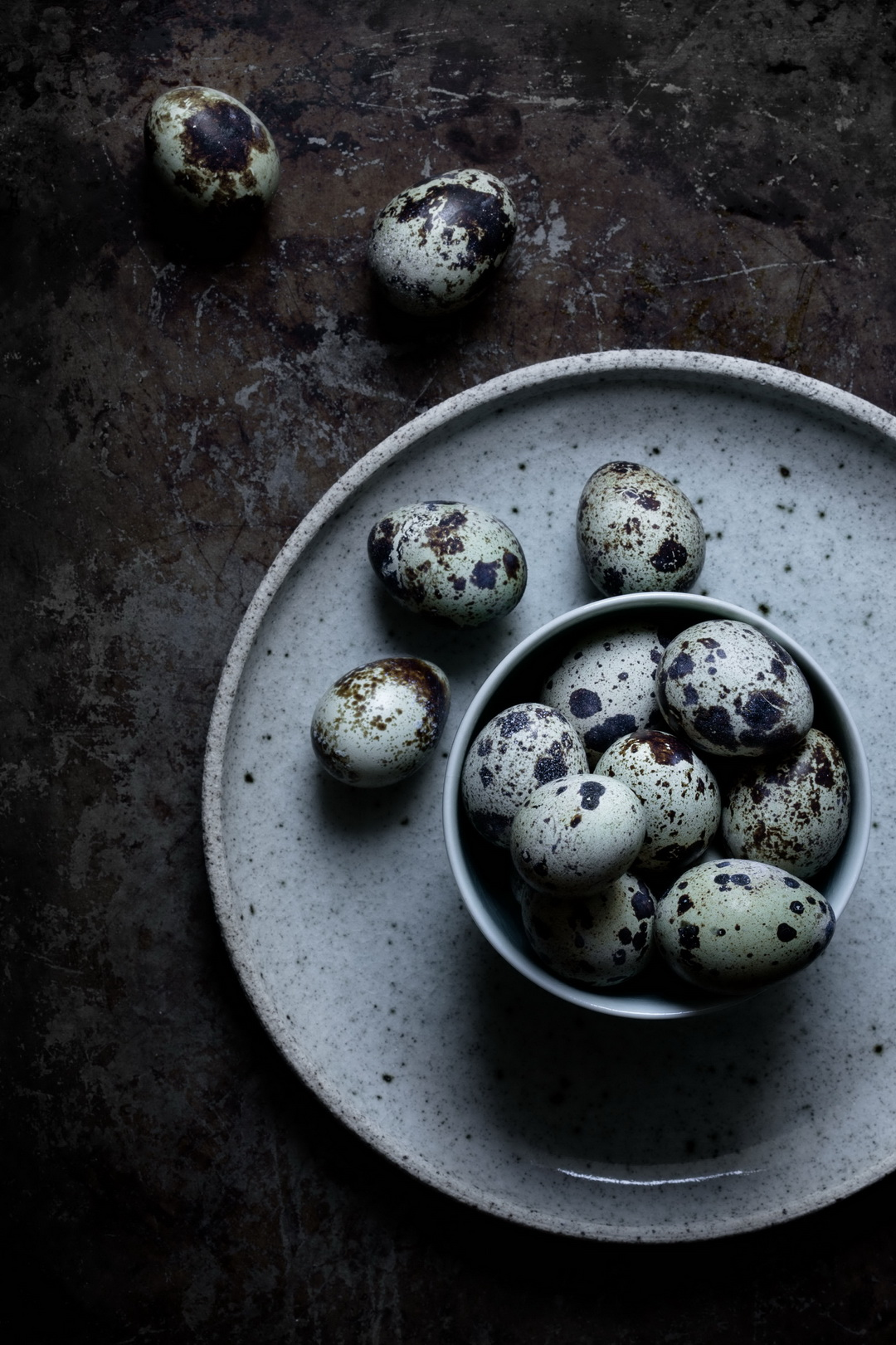 The Urban Nest. Moody quails eggs.